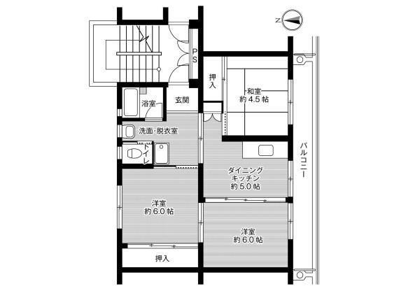 3DK マンション 福岡市西区 間取り