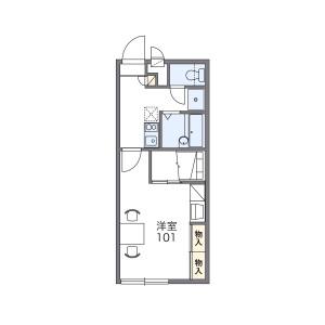 1K Apartment in Daimon - Saitama-shi Midori-ku Floorplan