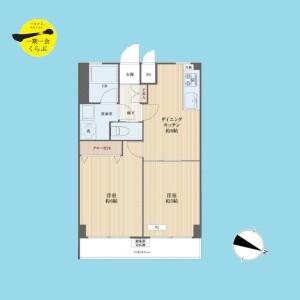 2DK {building type} in Honcho - Nakano-ku Floorplan