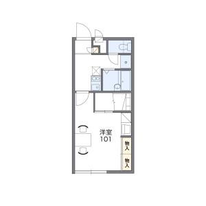 1K Apartment in Katanawahigashi - Chikushi-gun Nakagawa-machi Floorplan