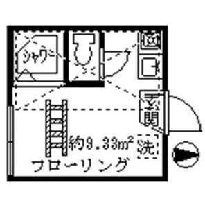 1R Apartment in Numabukuro - Nakano-ku Floorplan