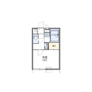 1K Apartment in Minamimachi - Nagasaki-shi Floorplan