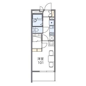 1K Mansion in Kasayacho - Nishinomiya-shi Floorplan