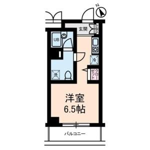 千葉市中央區問屋町-1R公寓大廈 房間格局