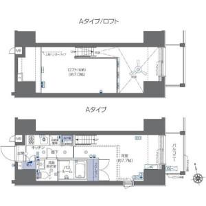 1K Apartment in Roppongi - Minato-ku Floorplan