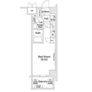 1K Apartment in Shinjuku - Shinjuku-ku Floorplan