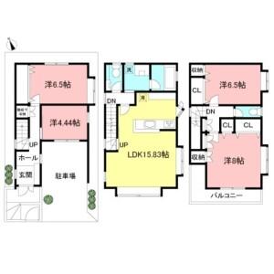 4LDK House in Shimoma - Setagaya-ku Floorplan