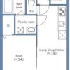 在新宿区购买1LDK 公寓大厦的 楼层布局