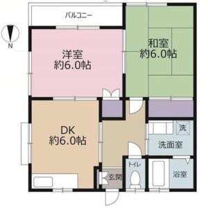 2DK Apartment in Shinyoshidahigashi - Yokohama-shi Kohoku-ku Floorplan
