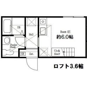 横浜市南区 山谷 1R アパート 間取り