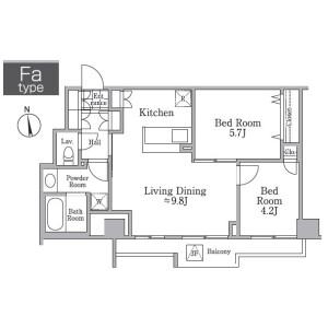 2LDK Mansion in Haramachi - Meguro-ku Floorplan
