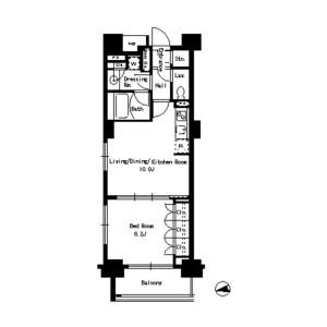 1LDK Mansion in Suido - Bunkyo-ku Floorplan