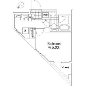 1K Mansion in Tamagawa - Ota-ku Floorplan