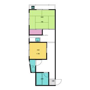 2K Mansion in Yoyogi - Shibuya-ku Floorplan