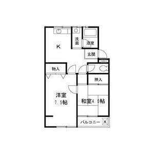 大阪市天王寺区大道-2K公寓大厦 楼层布局