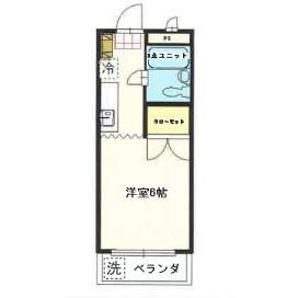 川崎市多摩区 西生田 1K マンション 間取り