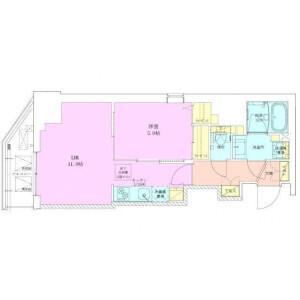 1LDK Mansion in Hirakawacho - Chiyoda-ku Floorplan