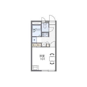 奈良市大宮町-1K公寓 房間格局