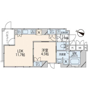 1LDK {building type} in Higashi - Shibuya-ku Floorplan