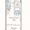 1DK Apartment to Rent in Chuo-ku Floorplan