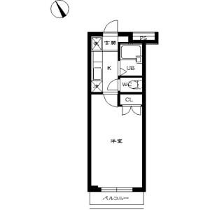 1K Mansion in Nakamagome - Ota-ku Floorplan