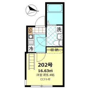 1K Apartment in Shimosakunobe - Kawasaki-shi Takatsu-ku Floorplan
