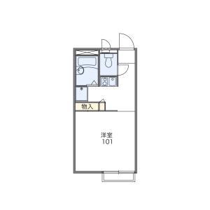 1K Apartment in Nishiaoki - Kawaguchi-shi Floorplan