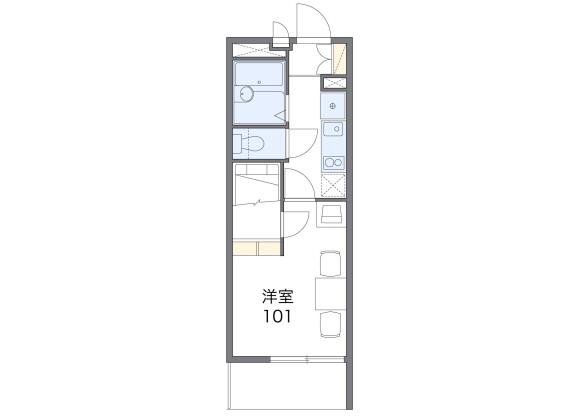 在橫濱市南區內租賃1K 公寓 的房產 房間格局