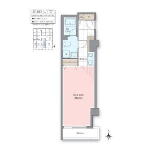 1R Mansion in Nishiazabu - Minato-ku Floorplan