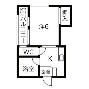 1K Mansion in Karatohanacho - Kyoto-shi Higashiyama-ku Floorplan