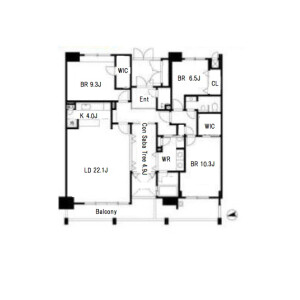 3LDK Apartment in Minatomachi - Osaka-shi Naniwa-ku Floorplan