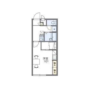 1K Apartment in Sumiyoshicho - Tsu-shi Floorplan