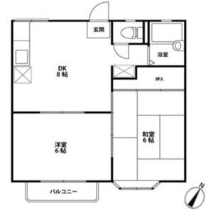 2DK Apartment in Daitakubo - Saitama-shi Midori-ku Floorplan