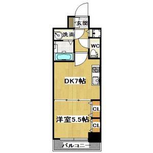 1DK Mansion in Nippombashi - Osaka-shi Naniwa-ku Floorplan