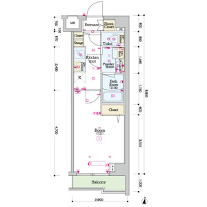 1K Mansion in Nakaochiai - Shinjuku-ku Floorplan
