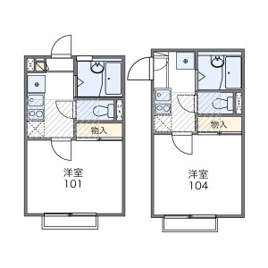 1K Apartment in Shimouma - Setagaya-ku Floorplan
