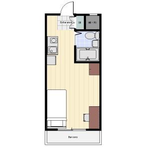 世田谷區東玉川-1R公寓大廈 房間格局