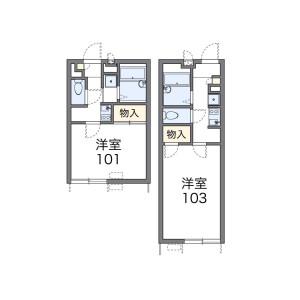 千葉市中央區登戸-1K公寓 房間格局