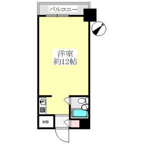 1R {building type} in Chojamachi - Yokohama-shi Naka-ku Floorplan