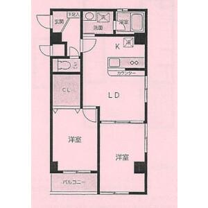 2LDK Mansion in Saiwaicho - Kawasaki-shi Saiwai-ku Floorplan