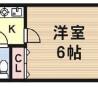 在大阪市東住吉區內租賃1K 公寓大廈 的房產 房間格局