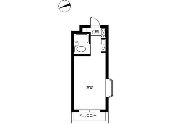 1R Apartment to Rent in Toda-shi Floorplan
