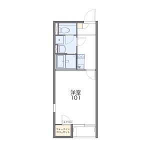 1K Mansion in Fujigane - Tsurugashima-shi Floorplan