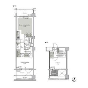 2LDK Mansion in Nishigahara - Kita-ku Floorplan