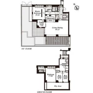 4LDK Apartment in Yoyogikamizonocho - Shibuya-ku Floorplan