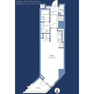 1K {building type} in Maruyamacho - Shibuya-ku Floorplan