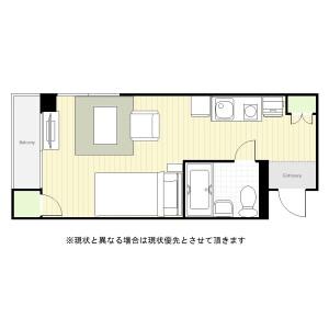 1R Mansion in Tsukishima - Chuo-ku Floorplan