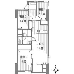 3LDK {building type} in Honcho - Kawaguchi-shi Floorplan