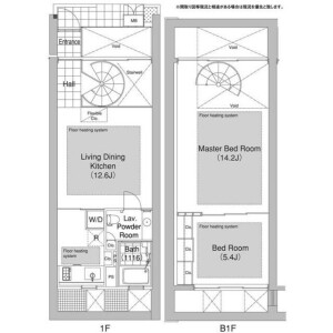 2LDK Mansion in Ebisunishi - Shibuya-ku Floorplan