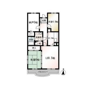 3LDK Mansion in Nakatanishi - Yokohama-shi Izumi-ku Floorplan